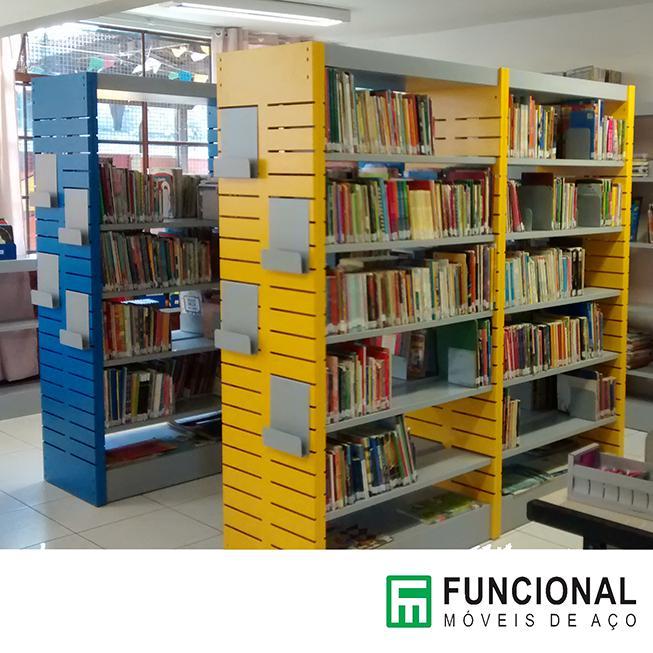 Estante de aço para biblioteca preço