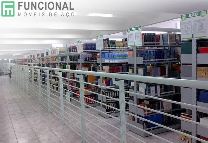 Prateleira de aço para biblioteca